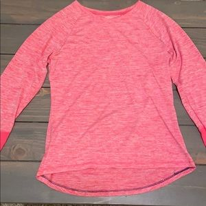 Pink workout material long sleeve!
